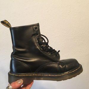 Classic black doc marten boots